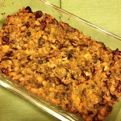 """Breadless Stuffing   """"I made this for Thanksgiving since I have some family members with a gluten allergy - so breadless is the way to go. This was so delicious, everyone loved it and there were no leftovers - so I'm making more today!"""""""