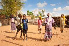 Children are able to play and receive psychosocial support in our child friendly spaces in camps in West Darfur State, Sudan.