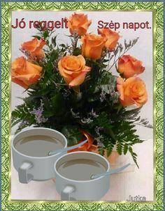 Szeretettel neked Flower Aesthetic, Good Morning, Table Decorations, Flowers, Blue Nails, Buen Dia, Bonjour, Royal Icing Flowers, Good Morning Wishes
