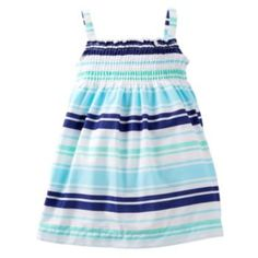 Carter's Striped Smocked Dress - Baby
