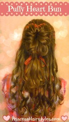 Heart Hairstyle For Valentine's Day
