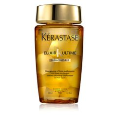 Kerastase Bain Elixir Ultime - oil-based shampoo puts shine, elasticity, moisture back into hair. Good for all hair types.