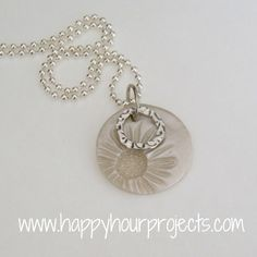 Sunflower Necklace with Polymer Clay