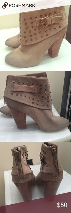 Studded Booties Good condition. Minor wear on toes. Two small barely visible scuffs on heel Trouve Shoes Ankle Boots & Booties