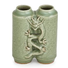Two separate chambers conjoined on one side by a dragon and a phoenix on the other side, x x 2 on Mar 2017 Chinese China, Celadon, Visit China, Summer Palace, Chinese Ceramics, Stoneware, Champion, Auction, Pottery