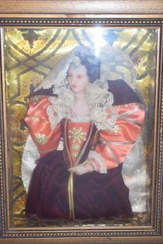 Wonderful Doll Frame Queen Elizabeth I Wax Portrait Character Doll : Oldeclectics | Ruby Lane