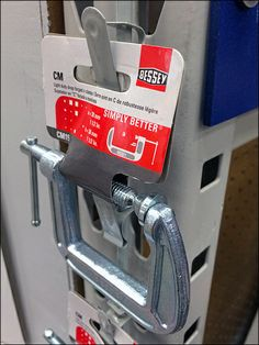 Bessey Simply-Better C-Clamp Strip Merchandiser Retail Fixtures, Clamp, Golf Clubs, Grey, Color, Gray, Colour, Colors