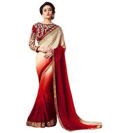 Naksh - Mix Shades Designer Saree