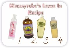 Kimmaytube's Leave In Conditioner Recipe http://www.blackhairinformation.com/hair-care-2/hair-treatments-and-recipes/moisturizing-treatments/kimmaytubes-leave-in-conditioner-recipe/