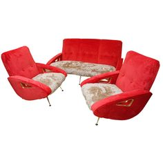 An Exuberant Marco Zanuso Mid Century Sofa Set | From a unique collection of antique and modern living room sets at http://www.1stdibs.com/seating/living-room-sets/