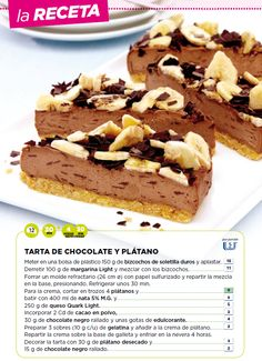 Tarta de chocolate y plátano Food Design, Chocolate Cake, Healthy Lifestyle, Weigh Watchers, Deserts, Food Porn, Pie, Cooking, Sweet
