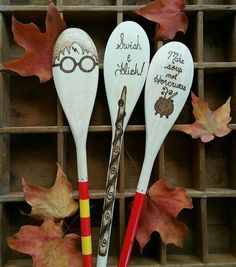 Kitchen accessories for Harry Potter fans, including these Harry Potter mixing spoons. Check out 17 other must-have accessories!