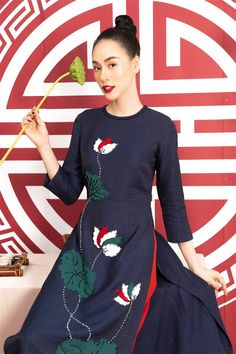 Ao Dai, Elegant Dresses, Yuri, Dresses With Sleeves, My Style, Long Sleeve, Bridesmaid Dresses, Fashion, Asian Clothes