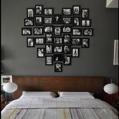 I love the idea of these frames over a bed :)