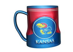 Kansas Jayhawks Coffee Mug 18oz Game Time Style Solid Color