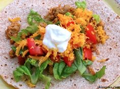 These Soft Chicken Tacos are ALWAYS a hit!! Must try. #healthy #recipes #mexican #skinnyms