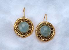 Handmade 925 Sterling Silver #Electroform 24K Gold Earrings by #Israeli Jeweler Ilana Abramovich @  IlanaArtisticJewelry,