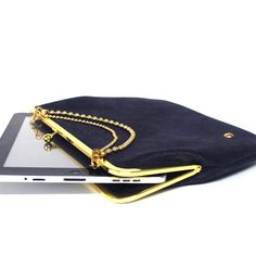 If I had an ipad. ipad case by helekstudio on etsy Kindle Fire Cover, Ipad Bag, Ipad Mini Cases, Book Jewelry, Blue Gold, Purses, Unique Jewelry, My Style, Stuff To Buy