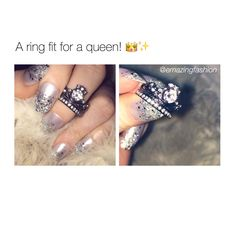 Omg I need  Queen, Couple Gifts, Goal, Engagement Rings, Nails, Wedding, Beauty, Jewelry, Enagement Rings