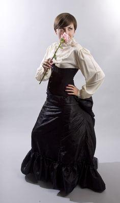 Victorian 4-gore steampunk skirt instructable