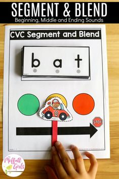 Segment and Blend CVC Words- Teach letter recognition and letter formation, and move to reading with this fun phonics activity! Fun for Preschool and Kindergarten! Fun Phonics Activities, Phonics Games, Preschool Literacy, Alphabet Activities, Kindergarten Reading, Kindergarten Classroom, Kindergarten Activities, Teaching Reading, Guided Reading