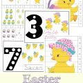 Have fun learning about numbers with these cute Easter counting mats and puzzles