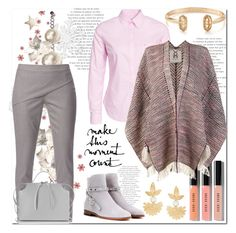 """""""Make This Moment Count"""" by helenaymangual ❤ liked on Polyvore featuring Morris, WtR London, Valentino, Bobbi Brown Cosmetics, Jil Sander, Kendra Scott, Figue and Gas Bijoux"""