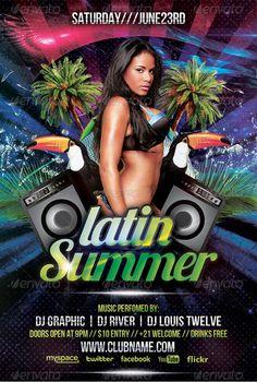 Latin Nightclub Flyer