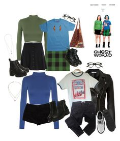 Ghost world by blueb0y on Polyvore featuring polyvore WearAll IRO Balmain River Island T By Alexander Wang STELLA McCARTNEY T.U.K. Vagabond Dr. Martens NOVICA Michael Kors Topshop fashion style clothing