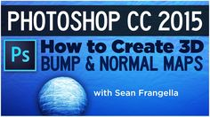 In this Photoshop CC 2015 Tutorial, learn how to quickly create bump maps and normal maps for use in 3D software such as Cinema 4D, Maya, or 3DS Max, a new f...