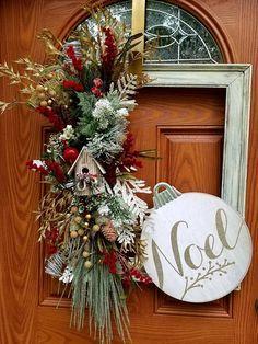 Christmas door decoration Holiday door decoration Christmas