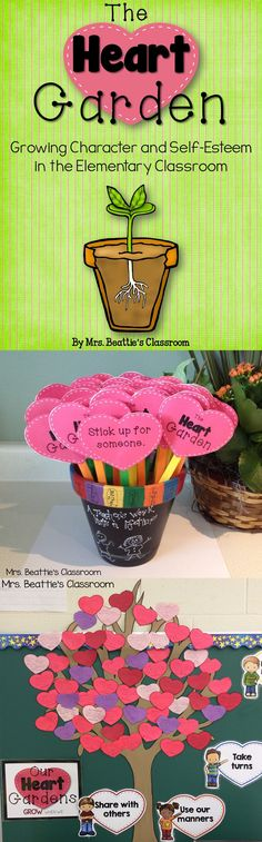 The Heart Garden - Growing Character in the Elementary Classroom by Mrs. Beattie's Classroom. An alternative to bucket filling with a more tangible focus for children!