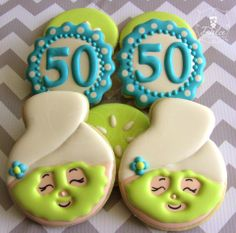 50th birthday Spa Cookies