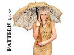 Ravelry: Pineapple Lace Parasol, Wedding Stick Umbrella, Crochet Pattern in PDF pattern by Ira Rott