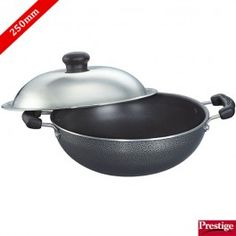 Prestige Omega Select Plus Non-Stick Round Base Kadai 250 Mm With Stainless Steel Lid