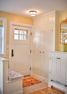 mother in law suite.. I like the idea of framing the door out w storage.