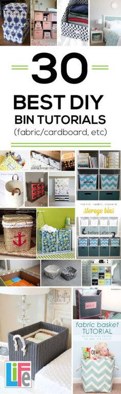Learn how to decorate and make bins to organize and to make your home look amazing.