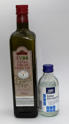 DIY makeup remover: mix 1/2 witch hazel and 1/2 extra virgin olive oil. VOILA!