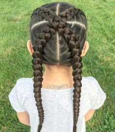Cross the Dutch Braids New Site Black Girl Hairstyles For Kids Braids Cross Dutch Site Baby Girl Hairstyles, Kids Braided Hairstyles, Hairstyles With Bangs, Hairstyle Pics, Braided Updo, Protective Hairstyles, Prom Hairstyles, Protective Styles, Braids For Kids