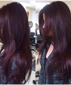 Are you looking for Dk Brown Purple Burgundy hair color hairstyles? See our collection full of Dk Brown Purple Burgundy hair color hairstyles and get inspired! Hair Color And Cut, Hair Color Dark, Cool Hair Color, Color Red, Burgundy Colour, Burgundy Bob, Ombre Colour, Ombre Burgundy, Black Cherry Hair Color