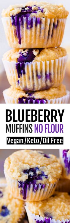 7 Ingredient Easy Keto Blueberry Muffin Recipe Keto Blueberry Muffins, Blue Berry Muffins, Flourless Muffins, Diabetic Muffins, Pineapple Muffins, Blueberry Breakfast, Easy Baking Recipes, Healthy Baking, Bread Recipes