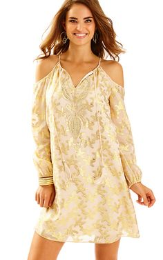 Fulton Open Shoulder Tunic Dress