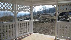 Foisoare rustice 10 Pergola, Arch, Outdoor Structures, Windows, Garden, Design, Italia, Longbow, Garten