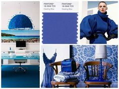 Photo of the day: Pantone's Dazzling Blue: Adding varying hues of blue to create a stunning space.