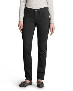 Women's Elysian Twill Slim Straight Jeans - Slightly Curvy | Eddie Bauer