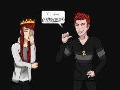 I win everything [MCYT:SPEEDART] Mithzan and Shubble - YouTube