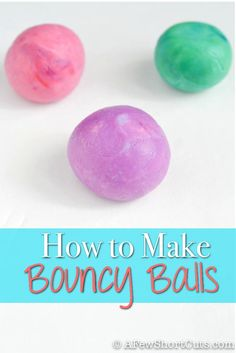 Science Craft = Fun Learning Experience Learn How to make Bouncy Balls #diy
