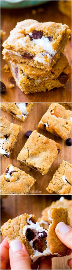 Soft, chewy, and completely addicting S'mores Cookie Bars. Easy to make, too!