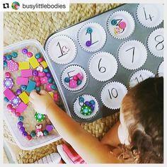 Super Idee! Zahlen lernen mit der Muffin Form Euer Bloggi #creativekids #blogger #kinderblog #zahlen #lernen #kita #schule #muffin #perlen #diy #hallobloggi #bloggi #kreativ #kreativseinmachtglücklich