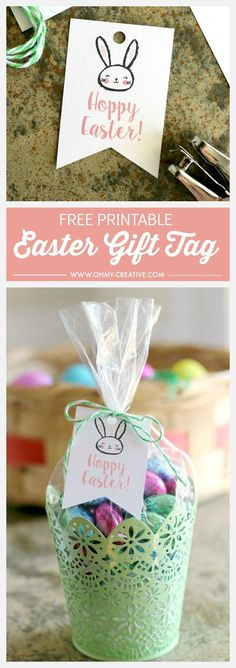 Free printable easter gift tags free printable easter and pastels free printable hoppy easter gift tags negle Images